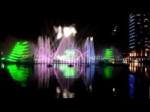 Light and Water Show. Dubai Festival City Mall