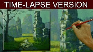 Time-Lapse Version | The ruins | Acrylic Painting by JM Lisondra