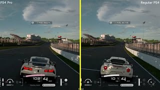 Gran Turismo Sport Beta PS4 vs PS4 Pro Graphics Comparison   Grands Hatch Raceway