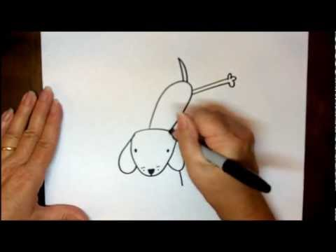 show me how to draw a dog step by step