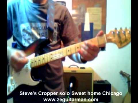 STEVE CROPPER'S SOLO GUITAR LESSON BLUES BROTHERS SWEET HOME CHICAGO part1