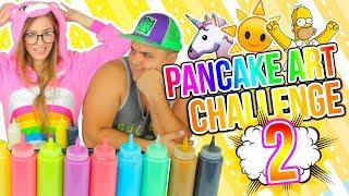 DIBUJOS QUE SE COMEN! 🍭🦄 Unicornio, Simpsons! PANCAKE ART CHALLENGE 2!!   Katie Angel