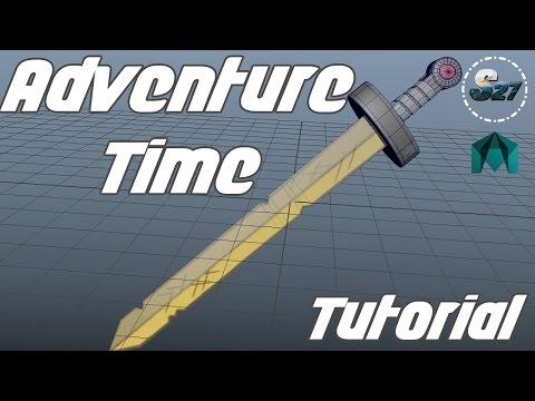 Maya Lets Model Finn's Golden Sword from Adventure Time