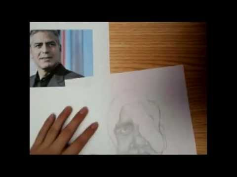 Caricatura de GEORGE CLOONEY Sketch de: David Williams