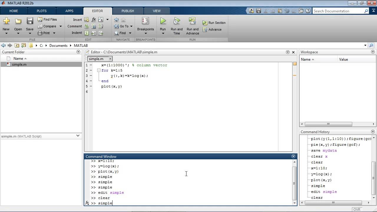writing a function in matlab
