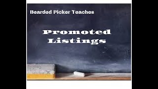 Ebay for Beginners:  Promoted listings, spend a little to make extra sales