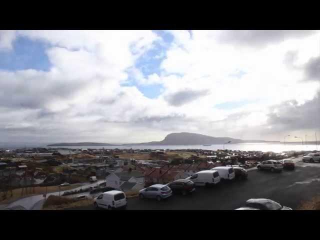Solar eclipse 20/3-2015 - Timelapse video of Tórshavn