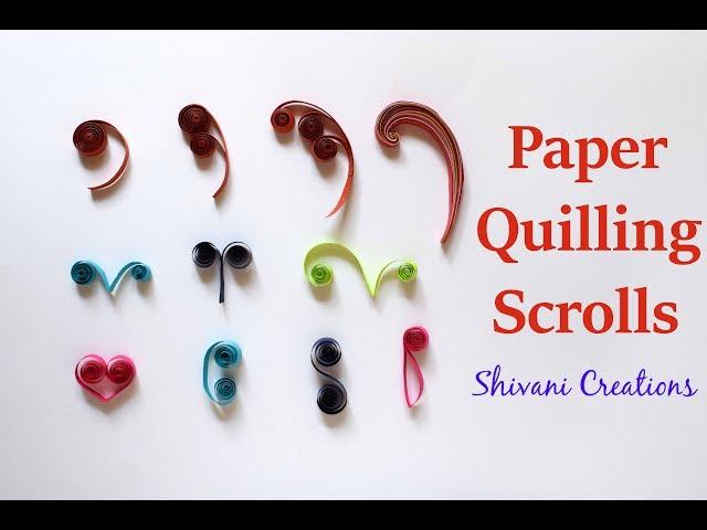 Introduction to Paper Quilling Part Three Paper Quilling Scrolls Quilling Swirls