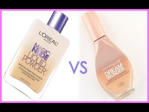 L'Oreal Magic Nude Liquid Powder VS Maybelline Dream Wonder