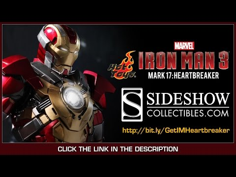 Iron Man 3 Hot Toys Mark XVII Heartbreaker Movie Masterpiece 1/6 Scale Collectible Figure Review