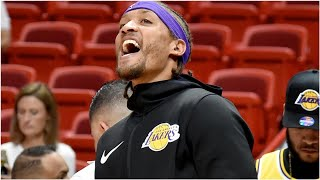 Lakers' Michael Beasley Tries To Check Into NBA Game In Practice Shorts