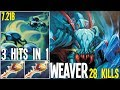 7.21b Weaver is more OP Than Ever 2 Divines 3 Hits in 1 Attack | Dota 2 Silly Builds