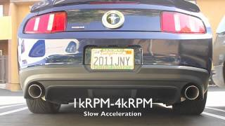 2011+ Mustang V6 Bassani Axle-Back Exhaust