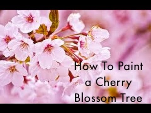How To Paint A Cherry Blossom Tree Youtube