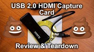 HD Capture - USB 2.0 HDMI capture card REVIEW & TEARDOWN