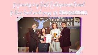 Winning my first Entrepreneur Award! | Gauahar Khan
