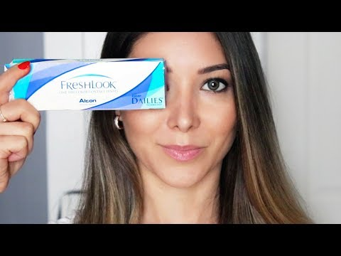 COLORED CONTACT LENSES FOR DARK BROWN EYES | FRESHLOOK | Try On Review | GIVEAWAY |