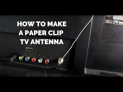 Paperclip Antenna Gets 20 Free Channels   HD TV for Free!   Homemade DIY Legal Cable