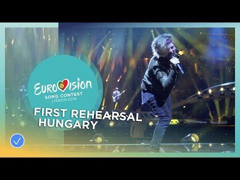 AWS - Viszlát Nyár - First Rehearsal - Hungary - Eurovision 2018