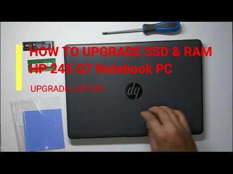 How To Upgrade SSD & Ram HP 245 G7 Notebook PC