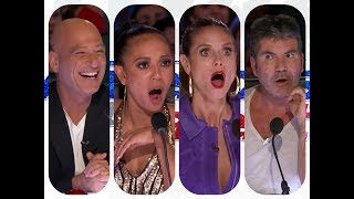 America's got talent 2017 - Top 10 Auditions - [None Singers Contestants] Plus One !