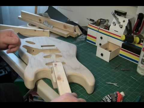 HOW TO PAINT A VAN HALEN EVH FRANKENSTRAT GUITAR PROJECT MOUNTING THE HOLDING STICK PART 1