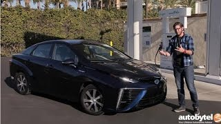 2017 Toyota Mirai Hydrogen Fuel Cell Car Test Drive Video Review