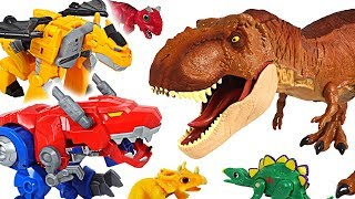 Jurassic World Fallen Kingdom dinosaur T-rex appeared! Transformers Rescue Bots! Go! - DuDuPopTOY