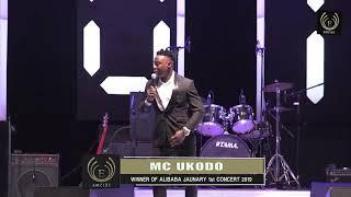 MC  Ukodo performing  on stage, Alibaba Jan 1st concert
