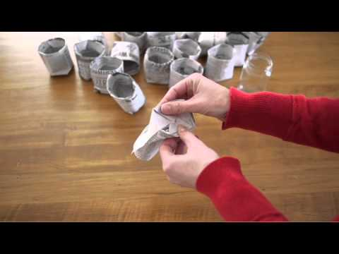 Newspaper Plant Pots by Michele Made Me