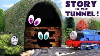 Thomas & Friends Toy Trains Prank In The Tunnel - Is Tom Moss a Really Useful Engine Fun Story TT4U