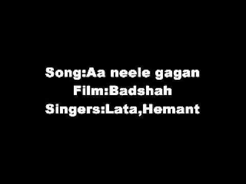 Aa Neele Gagan Tale Pyaar Hum Karein Film Badshah(1954) LataHemant...