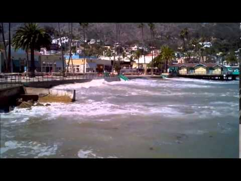 Hurricane Marie Waves on Catalina Island