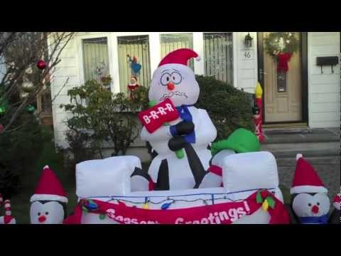 My Airblown Inflatable Christmas Display 2012