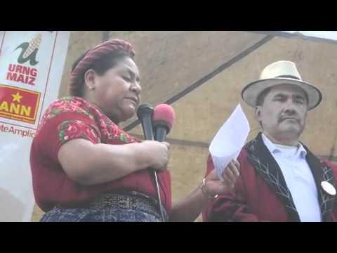 Rigoberta Menchú presenta a la planilla municipal de Santa María Nebaj
