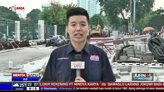 Revitalisasi Trotoar Stadion Utama GBK Jelang Asian Games 2018