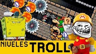 YA NO SÉ COMO PENSAR AQUÍ !!! - NIVELES TROLL #12 | Super Mario Maker - ZetaSSJ