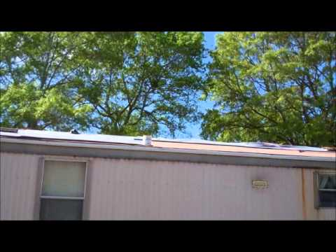 Rubber Roofing Over A Mobile Home Youtube