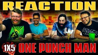 """One Punch Man 1x5 REACTION!! """"The Ultimate Master"""""""