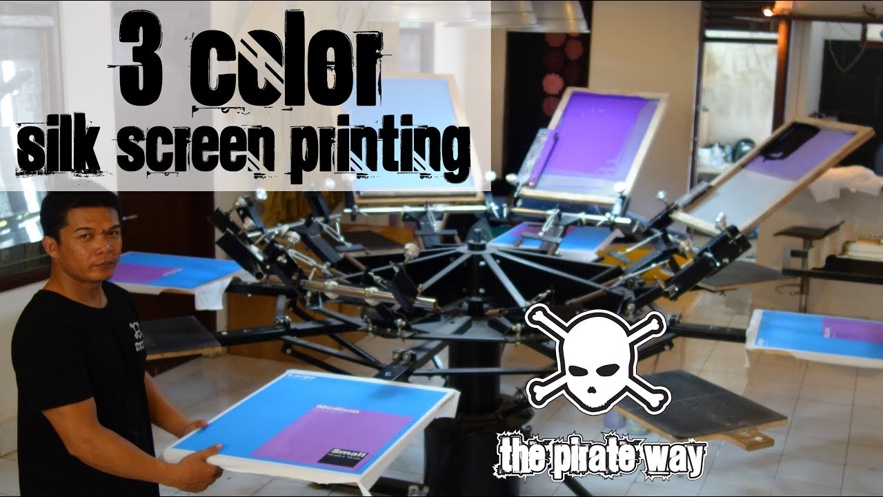 Silk screen printing t shirts in 3 colors custom t shirts for T shirt printing exhibition