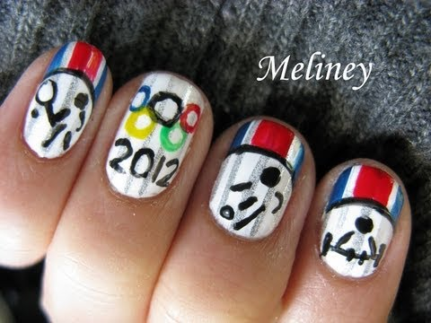 Olympic Games Nails 2012 Opening Ceremony (Giveaway Open) -  London Sports Nail Art Design Tutorial