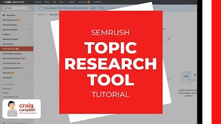 SEMrush Topic Research Tool, Finding new ideas for creating content