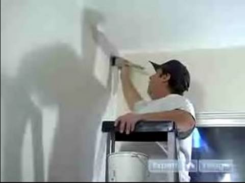 How to Paint a House : How to Cut In a Wall for Painting