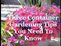 Container Gardening for Beginners (3 tips for superb hanging baskets and pots)