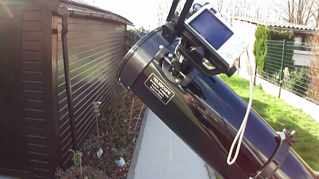 how to set up a reflector telescope