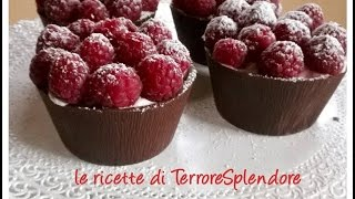 Cestini di cioccolato - Chocolate cups
