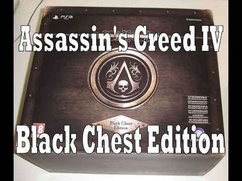 Assassin's Creed IV Black Flag Black Chest Edition Unboxing & Review (PS3)