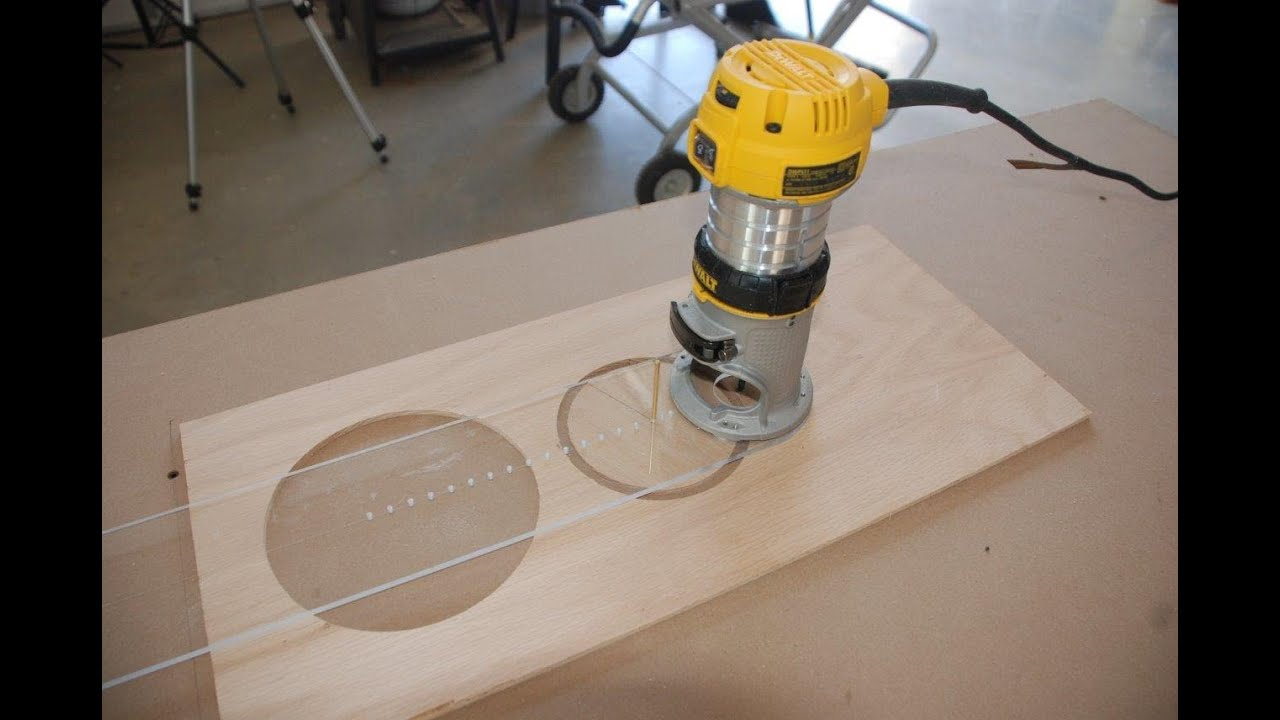 How To Build A Circle Cutting Jig For Your Router Youtube
