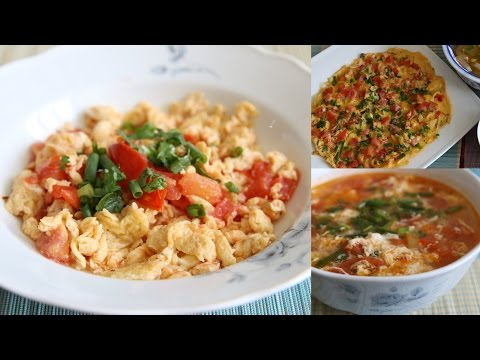 3 Recipes with Eggs and Tomatoes