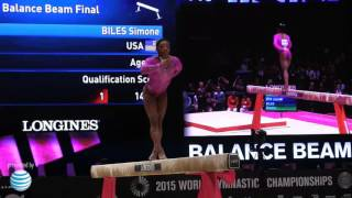 Simone Biles - Beam - 2015 World Championships - Event Finals